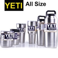 Wholesale 64 oz Color Yeti Rambler Tumbler Stainless Steel Vacuum Insulated Cup Double Walled Travel Mug Car Cup dhl free OTH242