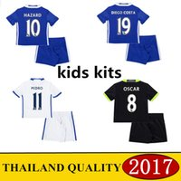 Wholesale 2016 AAA Thailand the best quality jersey Chelseaes jersey Hazard Diego Costa kids football clothes