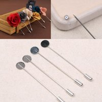 Wholesale 1 cm DIY Jewelry lapel pin brooch Flat Blank Setting base women men s shawlcape scarf findings making connector charms long hat pins needle