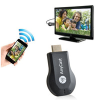 Wholesale Newest AnyCast TV Stick Miracast Airplay DLNA Dongle Smart Wifi Display for iOS Andriod Better than Ezcast Chromecast Free DHL