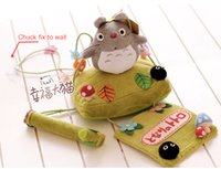 Wholesale Creative cute totoro plush dolls Cartoon chuck hanging towel roll of paper paper towel rack tissue canister