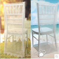 Wholesale White Lace Chair Back Cover Wedding Party Accessories Countryside Simple Style
