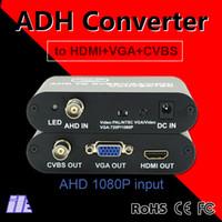 Bnc vidéo vga Prix-Convertisseur vidéo HD original AHD vers HDMI / VGA / BNC avec HDMI 1080P 50 / 60Hz Connecteur US / EU Noir