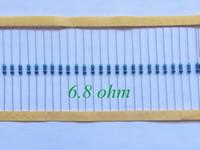 Venta al por mayor - Resistor de la película de metal 1 / 4W Vatios 6.8 ohmios 6.8R +/- 1% RoHS Sin plomo (100pcs)