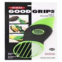 Wholesale Newest Good Grips in Avocado Slicer Green Plastic Handy Kitchen Tool Splits Slices with Knife Pitter Peeler and Scoop