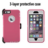 belt fittings - Heavy Duty Layer Built in Touchable Screen Protector Dustproof and Shockproof Hybrid Hard Shell Cover with Belt Clip Kickstand for iPhone