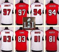 austin red - 2017 Super Bowl Atlanta Men s Jarrett Tyson Jackson Jacob Tamme Austin Hooper Red White Top Quality Elite jerseys