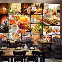 Flocking asia desserts - European D Stereo Style Wallpaper Milk Tea Dessert Shop Cafe Bedroom Living Room Restaurant Fast Food Shop Mural Wallpaper