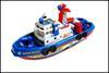 Wholesale kids Navigation Model Set can move with battery spraying water baby marine rescue boat model J071303 DHL FREESHIP