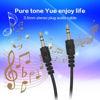 Wholesale 1M FT mini hdmi Cable Cord Wire mm Aux Plug Stero Cable Male Audio Cable for Car iPhone MP3 MP4 Headphone Speaker