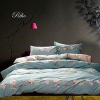 Wholesale Riho S Piece Cotton Rural Floral Rose Elegant Comfortable Bedding Sets Bedding Sheets Bed in a Bag Huajing
