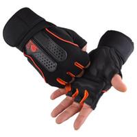 Wholesale Sports Gym Gloves Half Finger Breathable Weightlifting Fitness Gloves Dumbbell Men Women Weight lifting Gym Gloves Size M L XL