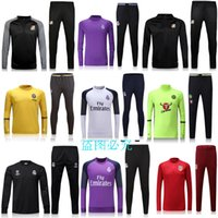 Full best chelsea - 2016 real madrid Tracksuits Best quality Training suit BENZEMA JAMES BALE Manchester juve Madrid Chelsea Tracksuits sports Uniforms