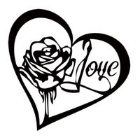 accessory quotes - Hot Sale Car Styling Rose Heart Notebook Art Car Sticker Quote Love Vinyl Decor Decal Accessories