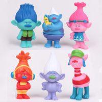 Wholesale Movie Trolls Toy Poppy Branch Biggie Collection Dream Works PVC Action Figures Size CM D008