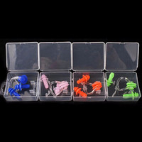 Wholesale Portable Swimming Waterproof Soft Silicone Set Earplugs Nose Clip Case Pool Accessories Water Sports