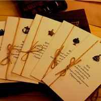 Wholesale Fashion Creative Gift Cards Retro hemp cable Envelope Gift Cards Greeting Cards STYLES Thanksgiving and Christmas
