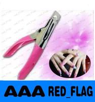 Wholesale Professional New Pink Manicure Tool Acrylic UV Gel False Nail Clipper Nail Edge Cutter Tips nail art LLFA