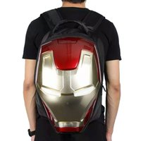 backpack led light - LED Flashing Light New D iron Man SchoolBag Cool EVA Cartoon School Bags Boys Kid Backpack