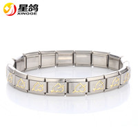 Wholesale Fashoin New Silver Plated L Stainless Steel Bracelet Link Chain Hearts Charms Bracelet for Women Men s Bangle Jewelry
