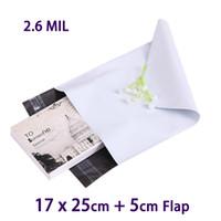 20 PC Bolso de empaquetado plástico blanco del empaquetado del pequeño envoltorio plástico Empaquetado Empaquetado de los bolsos 17x25cm Bolso del Polybag