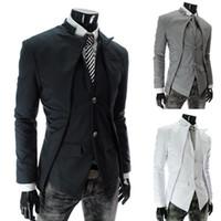 Wholesale 3 sets of international men s suits foreign trade hot section asymmetrical suit jacket special men s hot men s suit W43