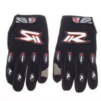 Wholesale Fashionable Motorcycle Hand Protection Gloves Black Red White Size L Pair keep yourself warm discount