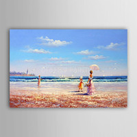 beauty scenes - The beauty of the huge modern abstract fashion hand painted oil painting decorative arts on the canvas People on the beach scene Unframed