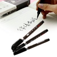 Wholesale PC Chinese Japanese Water Ink Painting Writing Brush Calligraphy Pen Art Tool MEDIUM school office supply stationery