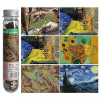 art gallary - 150pcs set Mini Tube Puzzles d Jigsaw Puzzle Learning amp Education Kids Puzzles Toys Vincent van Gogh Art gallary oil painting