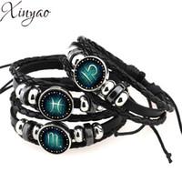 Celtic aquarius bracelet - Virgo Sagittarius Aquarius Scorpio Libra Capricorn Constellation Bracelet Men Women Braided Leather Bracelets Bangles