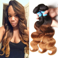 Wholesale Brazilian Straight Body Wave Virgin Hair Weave Bundles Three Tone A Ombre Remy Hair Weft High Quality Ombre Human Hair Extension