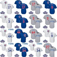 Wholesale Youth World Series Champions patch chicago cubs Javier Baez Kris Bryant Rizzo David Ross kids baseball jerseys