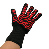 Wholesale HIGHHILL Brand F Degree Heat Protective Cooking Glove Microwave Oven Use Silicone Gloves Heat Resistant Cooking Grilling Baking BBQ Mitts