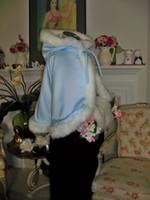 apricot powder - Mini Snow Princess Bridal Cape Waist length with Hat Powder Blue White Satin Short Bridesmaid Cloaks with Faux Fur Custom Made