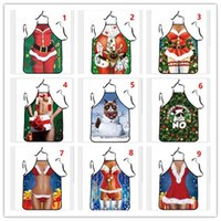 Wholesale Best quality New arrival Christmas decorative apron Funny Cooking Kitchen Apron Dinner Party Apron for woman and man