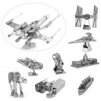 Wholesale D Metal Puzzles Model Jigsaws Fighter Robot DIY Assemble Kid Adult Toy Gift