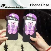 bear skin hat - For iphone plus Cartoon Cute Hat Bear Phone Cases For iphone s plus plus Silicone Rubber Soft Back Cover Protective Shell Skin
