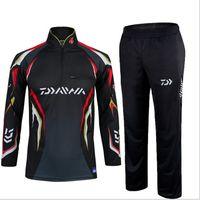 Wholesale 2016 Daiwa Warm Fishing Clothing sets men Breathable Sun UV Protection Outdoor Sportswear suit fishing shirt Fishing pants
