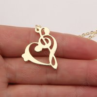 Celtic bass clef - Music Note Necklace Bass Clef Treble Clef Necklace Piano Student Gift Choir Necklaces Pendants Plated Gold Choker Women