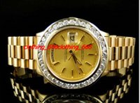 Factory Fashion Watch Pre-Owned Hommes 41 MM Président Day-Date 18k jaune or Diamond Watch Automatique Hommes Montres Hommes Montres de qualité supérieure