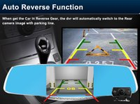 Wholesale 4 inch Automobiles Motorcycles Auto Electronics Car DVR Road Exploration rearview mirror tachograph Dual Lens P night vision reversi