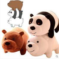 baby grizzly bear - We Bare Bears Popular Cartoon set cm Grizzly Ice Bear Panda Plush Soft Doll Animal Stuffe For Baby Kids Birthday Gift