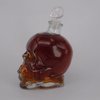 beverage products - New design Crystal fglass Skull vodka bottle ML ML ML with glass stopper and cork New product