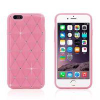Precio de Iphone bling la rosa-Para el iPhone de Apple 6 6g 6S 4.7 pulgadas de diamante de diamante Bling strass silicona piel suave cubierta de la caja