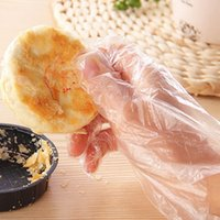Wholesale 100PCS Eco friendly Disposable Gloves PE Garden Household Restaurant BBQ Plastic Multifuctional Gloves Food