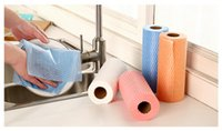 Wholesale Non woven Fabric Dish Cloth Disposable Kitchen Rags Multipurpose for Home more free cutting with a clean cloth wash cloth