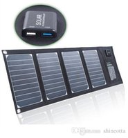 Wholesale 20W Portable Foldable Solar Panel Charger Solar Phone Tablet Battery Charger for Iphone Sumsung HTC BlackBerry IPAD