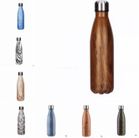 Wholesale NEW Cola Shaped Insulated Double Wall Vacuum high luminance Water Bottle oz ml Creative Thermos bottle Vaccum Insulated