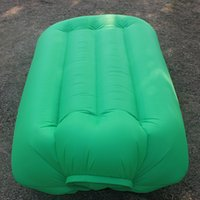 Wholesale Fast Inflatable Air Sleeping Bag Hangout Lounger Air Camping Sofa Portable Beach Nylon Fabric Sleep Bed with